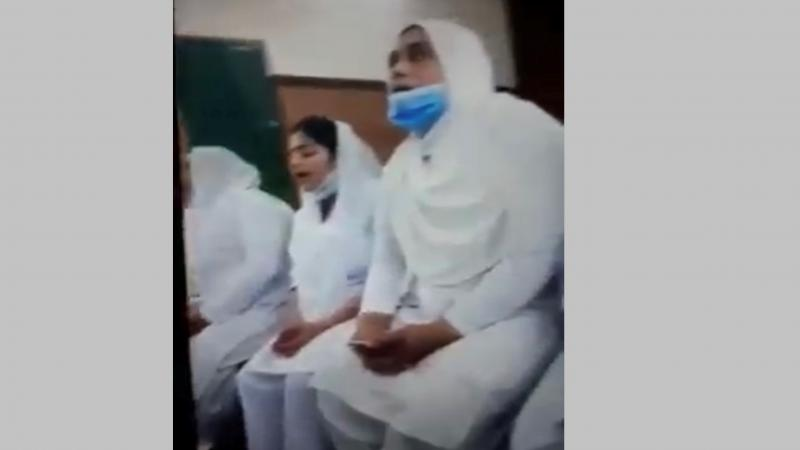 Pakistan Christian News image of Muslim nurses took over a chapel and threatened to convert it to a mosque
